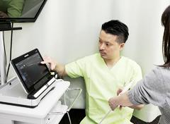 エコー検査の施術写真