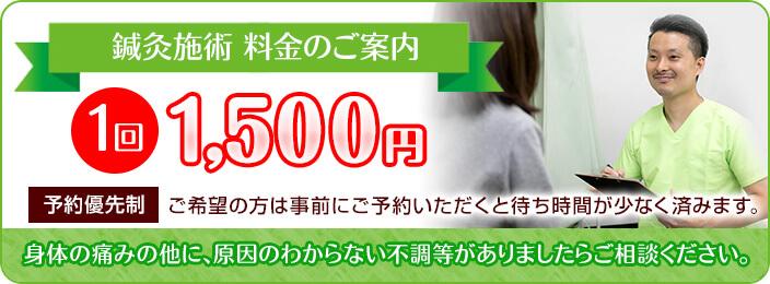 鍼灸施術 1回1500円