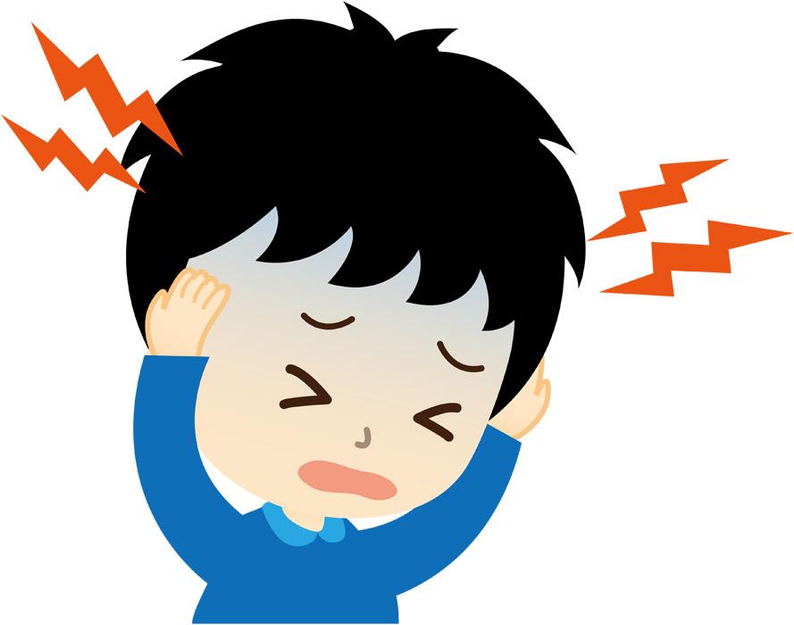 締め付けられるような頭の痛み