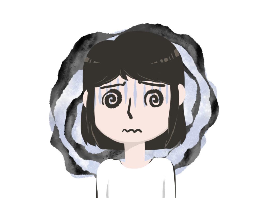 メニエール病のめまいは、グルグル回るような回転性のめまい