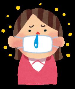 花粉症による鼻水で頭痛がひどい
